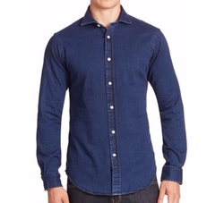 Polo Ralph Lauren  - Slim-Fit Denim Button-Down Shirt