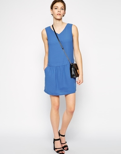 Asos - Color Block Dress With Strappy Back