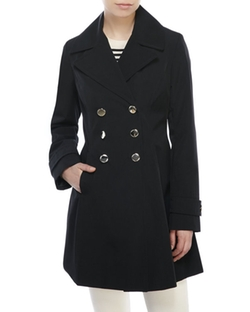 Ivanka Trump - Double-Breasted A-Line Trench Coat