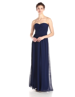 Donna Morgan - Long Strapless Chiffon Gown