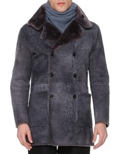 Giorgio Armani   - Vintage-Effect Shearling Fur Coat