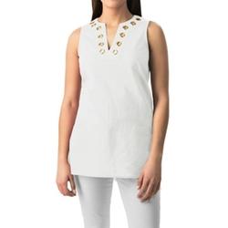 August Silk  - Grommet Tunic Shirt