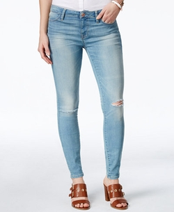 Tommy Hilfiger  - Ripped Light Wash Jeggings