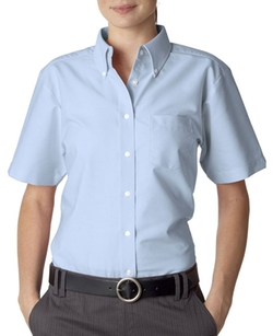 Ultraclub  - Classic Wrinkle-Free Short-Sleeve Oxford Shirt