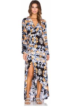 Aila Blue - Bella Wrap Maxi Dress