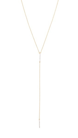 Adina Reyter  - Pave Double Bar Lariat Necklace