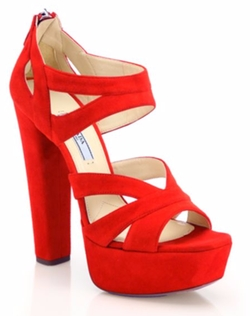 Prada  - Suede Platform Sandals