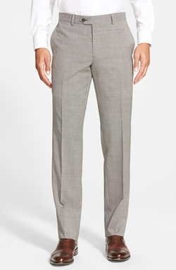 Nordstrom - Flat Front Houndstooth Wool Trouser