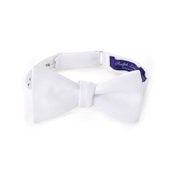 Ralph Lauren - Solid Cotton Piqué Bow Tie