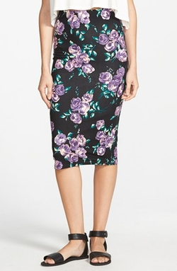 Volcom - Anytime Floral Print Pencil Skirt