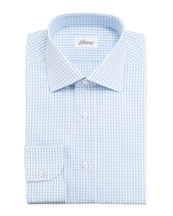 Brioni - Checked Dress Shirt