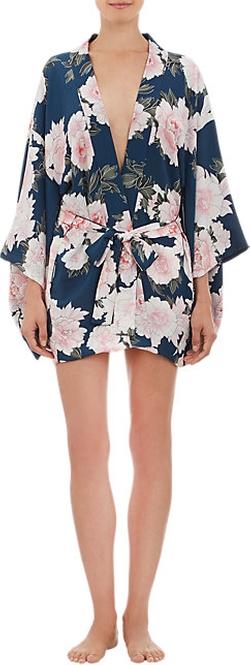 Fleur Du Mal  - Floral-Print Silk Crepe Kimono Robe