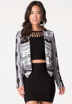 Bebe - Print Asymmetric Jacket
