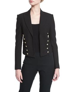Burberry  - Cropped Military Jacket