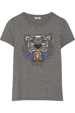 Kenzo - Tiger Printed Cotton-Jersey T-Shirt