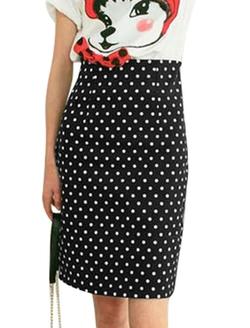 Uxcell - Dots Pattern Skirt