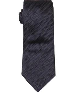 Ermenegildo Zegna - Navy Striped Print Silk Tie