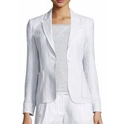 ATM - Striped Linen-Blend Blazer
