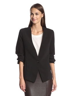 Bishop & Young  - Shirred Cropped Sleeve Blazer