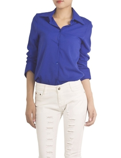 iB-iP  - Womens V-Neck Spread Waist Shirt