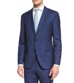 Hugo Boss - Striped Slim-Fit Basic Suit
