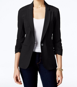 XOXO  - Ruched-Sleeve Blazer