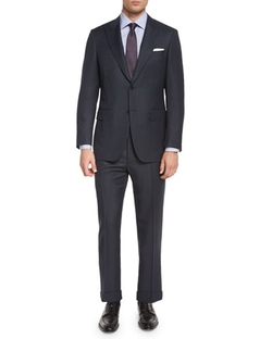 Canali   - Birdseye Two-Piece Wool Suit