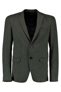 Boohooman Night - Smart Skinny Tweed Blazer