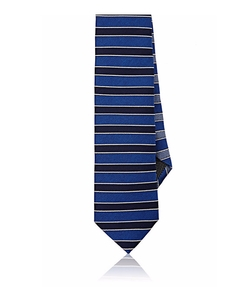 Title Of Work - Ribbed-Stripe Faille Necktie
