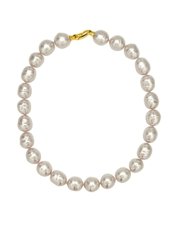 Majorica - Manmade Organic White Baroque Pearl Necklace