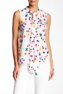 Cece By Cynthia Steffe - Sleeveless Demure Floral Blouse