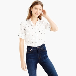 J.Crew - Perfect Shirt In Onyx Dot