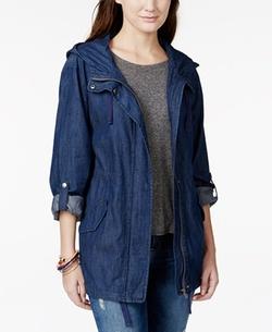 American Rag - Hooded Denim Jacket
