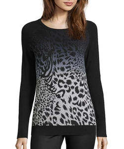Wyatt - Ombré Leopard Cashmere Sweater