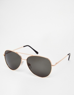 Asos - Gold Aviator Sunglasses