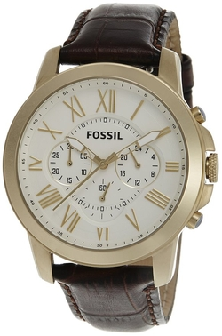 Fossil  - Grant Leather Strap Watch
