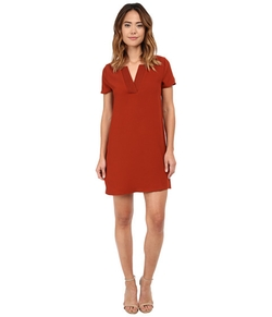 Brigitte Bailey - Woven V-Neck Shirt Dress