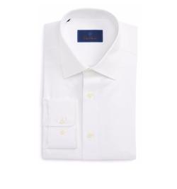 David Donahue - Regular Fit Solid Dress Shirt