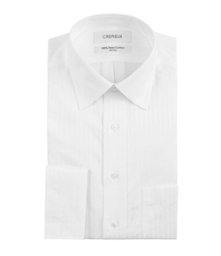 Cremieux - Spread-Collar French Cuff Dress Shirt