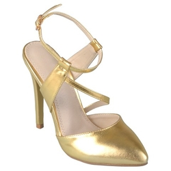 Journee Collection - Gold Pumps