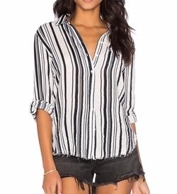 Stateside - Veil Long Sleeve Button Up Top