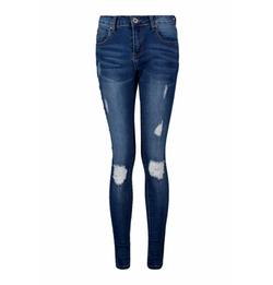 Boohoo Blue - Kelly Distressed Skinny Jeans