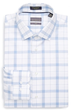 Calibrate - Trim Fit Plaid Dress Shirt