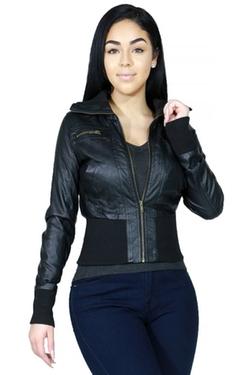 Fandsway - Faux Leather Outerwear Jacket