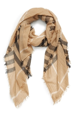 BP. - Plaid Oblong Scarf