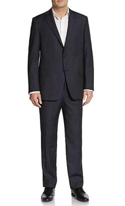 Hickey Freeman  - Regular-Fit Pinstripe Worsted Wool Suit