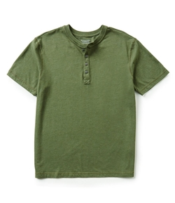 Roundtree & Yorke  - Washed Jersey Henley Shirt