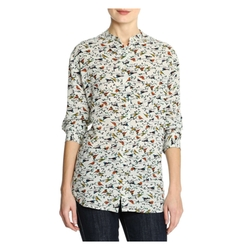 Joe Fresh - Print Roll Sleeve Blouse