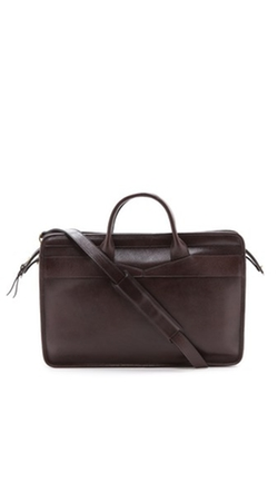Lotuff Leather - Slim Zipper Briefcase