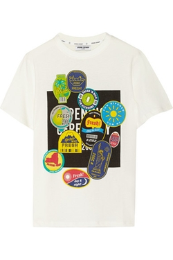 Opening Ceremony - Fruit Sticker Printed Cotton-Jersey T-Shirt